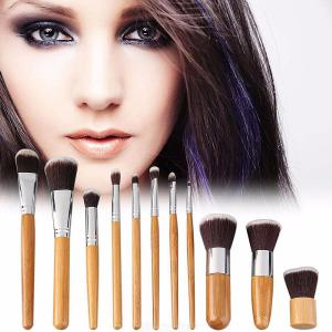 Professional Brushes Set For Make Up With Bamboo Handle Eye Shadow Foundation Eyebrow Lip Makeup Brush Tools