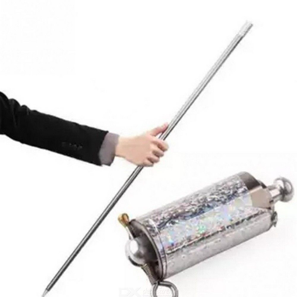 110CM Length Appearing Cane Silver Cudgel Metal Magic Tricks Toy For Professional Magician Street Close Up Illusion