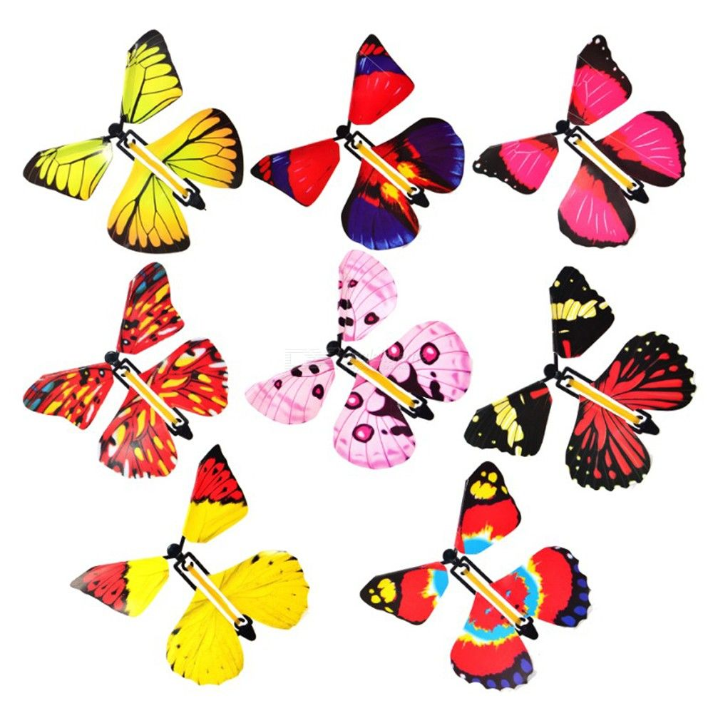 Magic Flying Butterfly Hand Transformation Magic Props Funny Surprise Prank Joke Mystical Trick Toys Random Color
