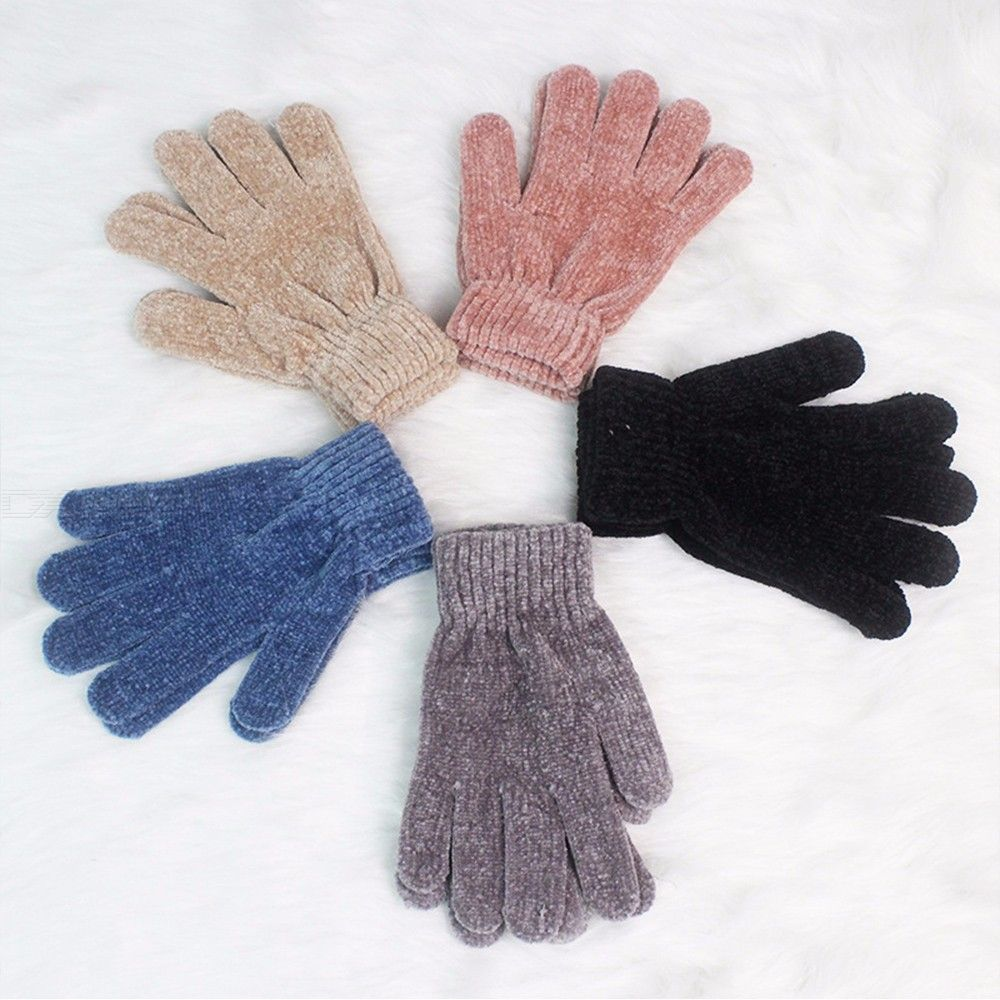 Stretch | Winter | Glove | Solid | Color | Women | Warm | Soft | Girl | High