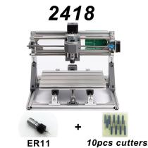 CNC2418-DIY-Laser-Engraving-PCB-Milling-Machine-Wood-Carving-Router(with-ER11-2b-10Pcs-Cutters)