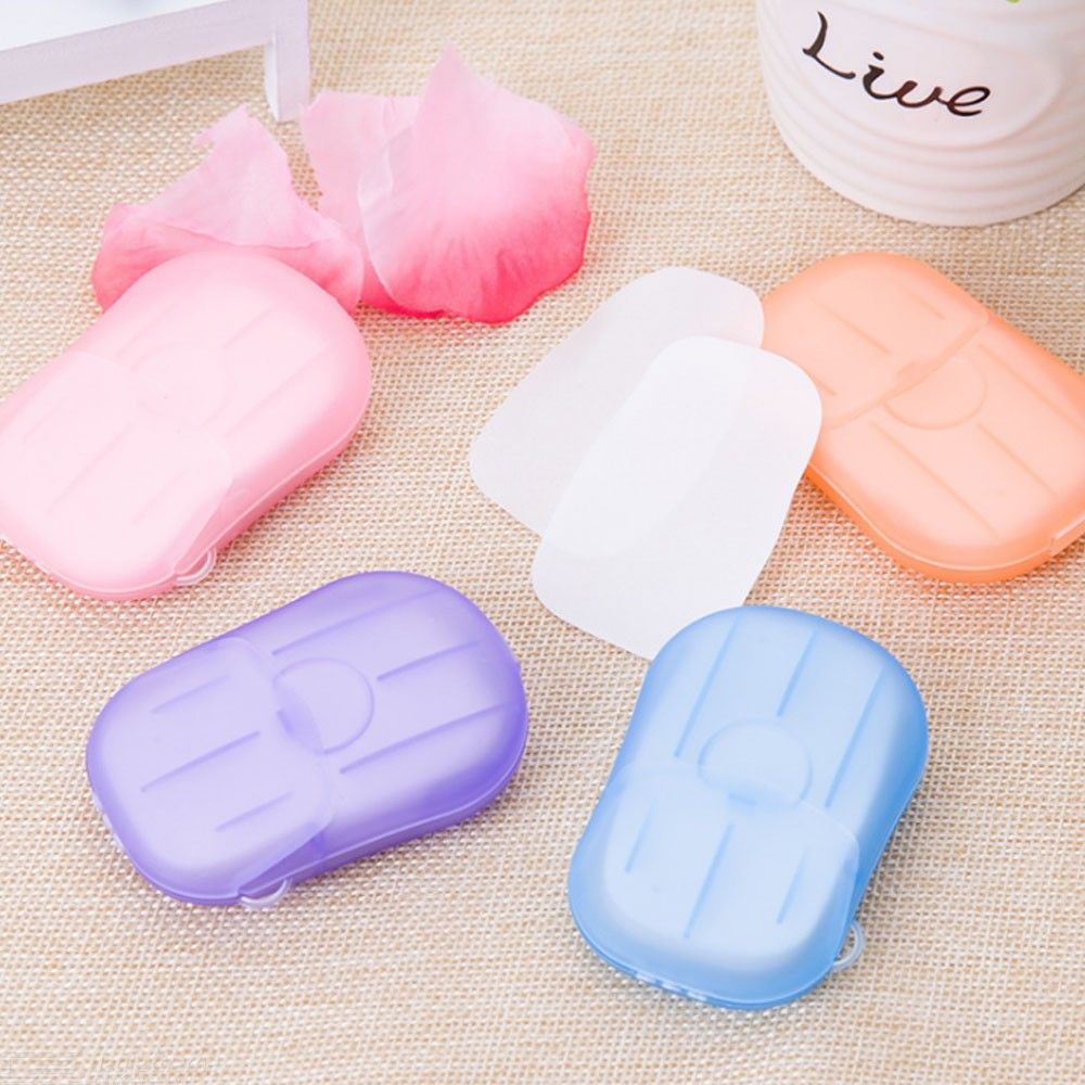 Convenient Washing Hand Bath Soap Fakes Travel Portable Scented Slice Sheets Foaming Box Tools Random Color