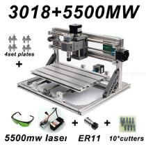 CNC3018-DIY-Laser-Engraving-PCB-Milling-Machine-Wood-Carving-Router(ER112b10Pcs-Cutters2b5500mw-Laser2bProtect-Glasses)