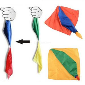 Hot New Change Color Silk Scarf For Magic Trick By Mr. Joke Props Tools Toys