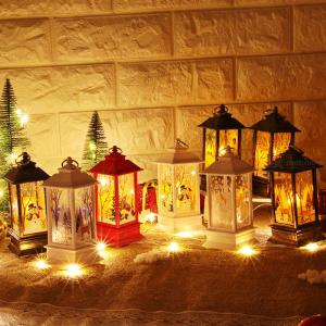 Christmas Decorations For Home LED Christmas Table Lamp With Tea Light Candles 1PCS