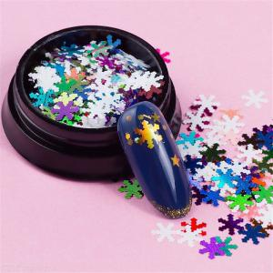 Ultra-thin Christmas Snowflake Nail Sequins White Snowflake Computer Chips Glitter Paillette DIY Nail Art Decoration