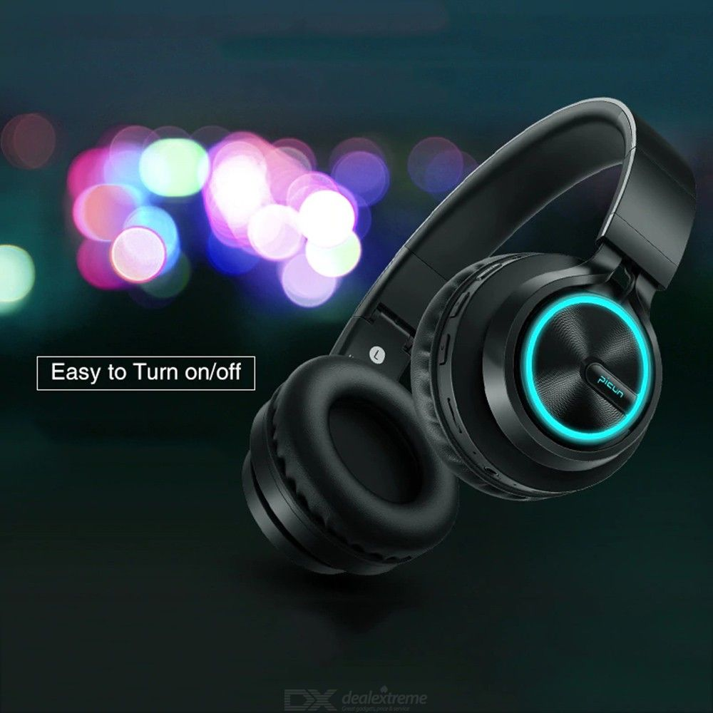 a734a05fd96 Picun B6 Wireless Bluetooth 4.1 Headphones 12H Playing Time Stereo Glowing  Headset Earphone With Mic