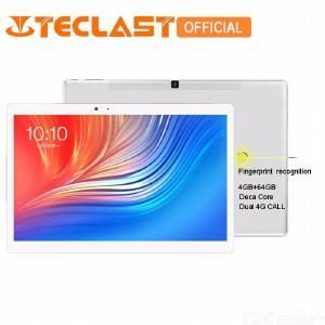 Teclast T20 4G Phone MT6797 X27 4GB +64GB Fingerprint Recognition 10.1 Inch Android 7.0 GPS Dual WiFi PC Tablet