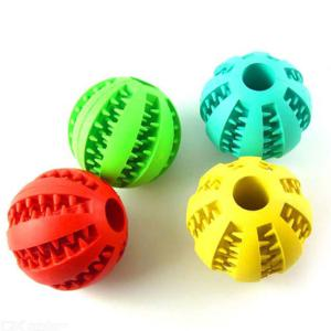 Dog Toy Interactive Rubber Balls Pet Cat Puppy Elasticity Teeth Chew Tooth Cleaning Balls Toys For Dogs