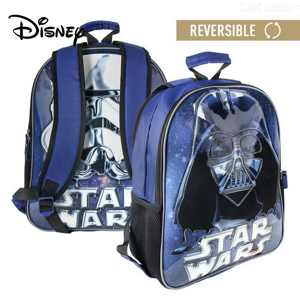 Disney Cartoon Character 3D Star Wars Printing Backpack For Kids Girls Mochila School Bag