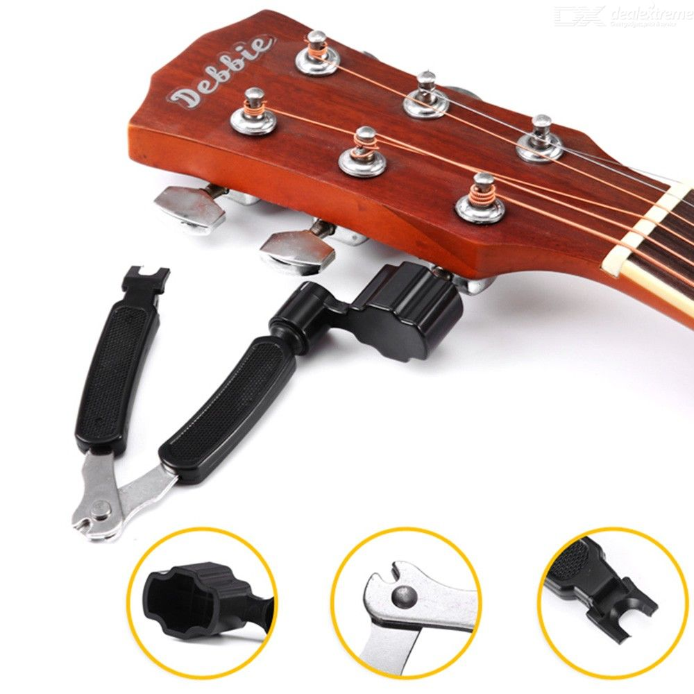 3 In 1 Multifunction Guitar Peg String Winder + String Pin Puller + String Cutter Guitar Accessories Tool Set