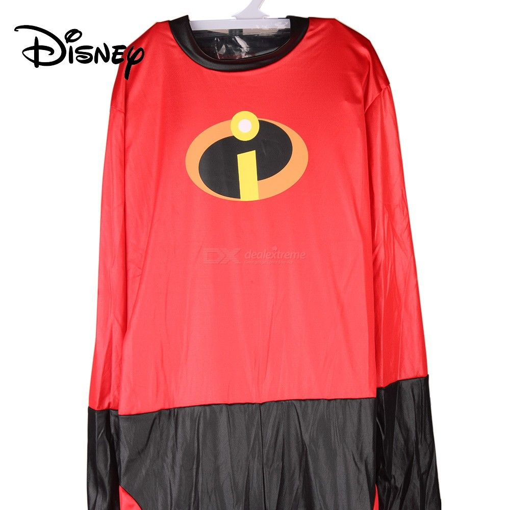 Disney Pixar The Incredibles Costume For The 14-year-old Boys And Up W/1 PC  Mask, Belt And 1 Pair Of Gloves
