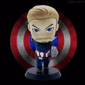 10cm Captain America Bobblehead, Collectible Cartoon Bobblehead Figurines