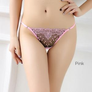 Womens Low-rise G-string Openwork Fringe Sexy Lingerie, Sexy See-through Panties For Women