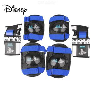 Disney Knee Pad Adjustable Elastic Strap For Kids Riding Skating Scooter Elbow Wrist Knee Guard Protector Set