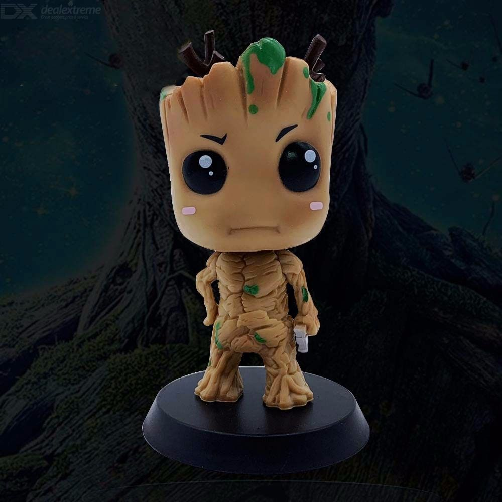 Marvel-10cm-Groot-Bobblehead-Collectible-Guardians-Of-The-Galaxy-Bobblehead-Figurines