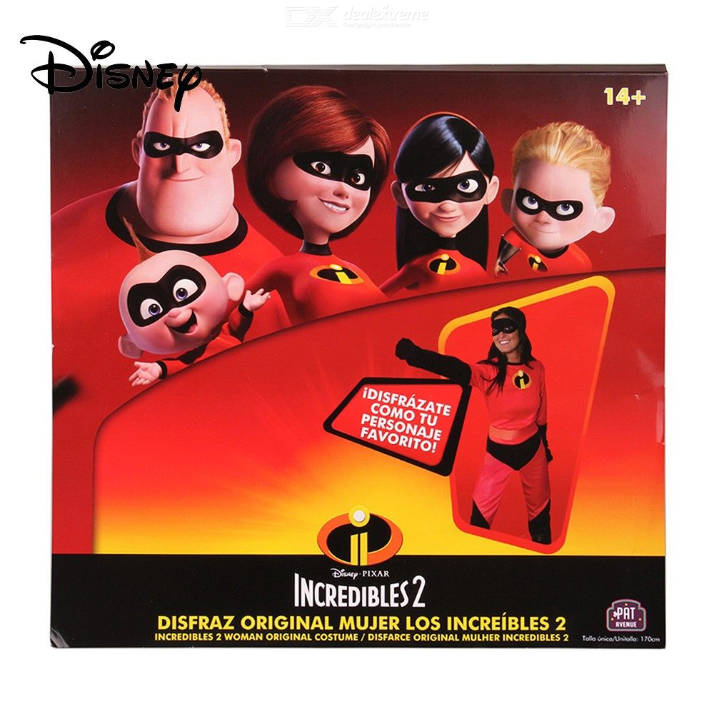 Disney-Pixar-The-Incredibles-Costume-For-The-14-year-old-Girls-And-Up-W1-PC-Mask-Belt-And-1-Pair-Of-Gloves