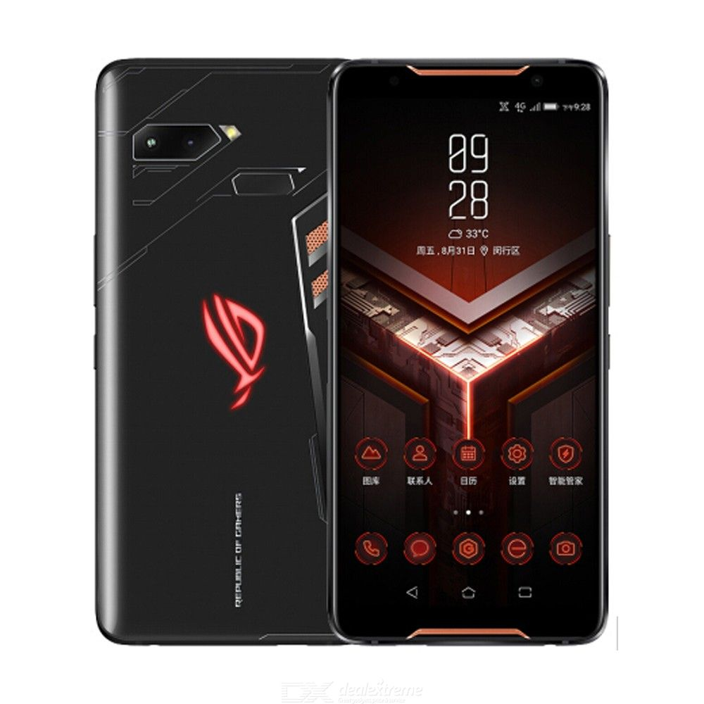 ASUS ROG 4G Phablet 8GB RAM 512GB ROM Global Version Android 12.0MP + 8.0MP Rear Camera Fingerprint Sensor - Black