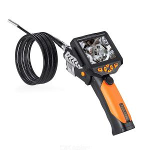 NTS200 Endoscope Inspection Camera 3.5 Inch LCD Monitor 8.2mm Diameter 1M/2M/3M/5M Tube DVR Borescope Zoom Rotate Flip