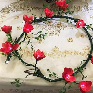LED Light Up Flower Floral Hairband Garland Crown Bride Wedding Party Headband Glowing Wreath Vines