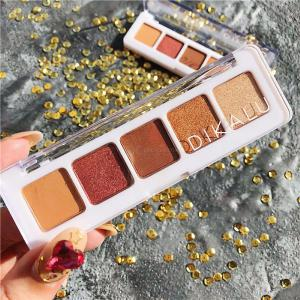Make Up 5 Colors Palette Matte Glitter Shimmer Mineral Pigment Powder Cosmetics Eye Shadow Plate