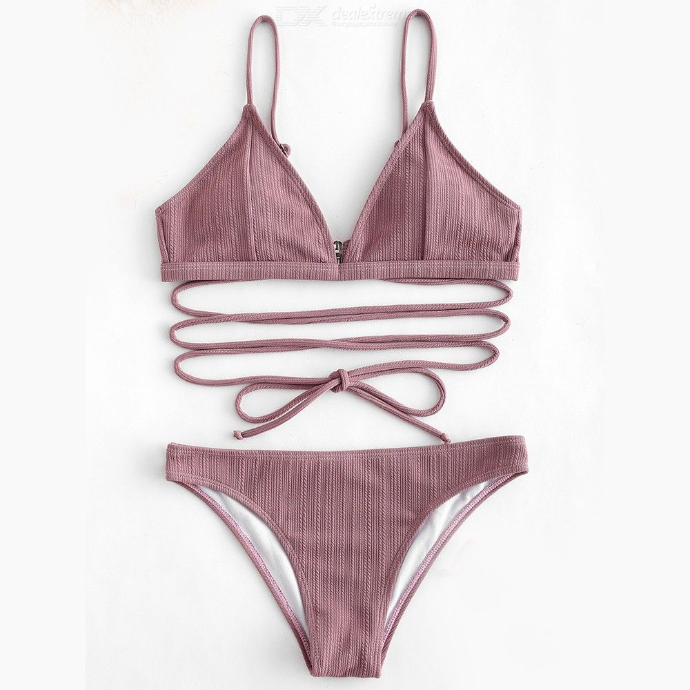 Swimwear Female Two Pieces Swimsuit Solid Color Women Sexy Bathing Suit Bikinis Set