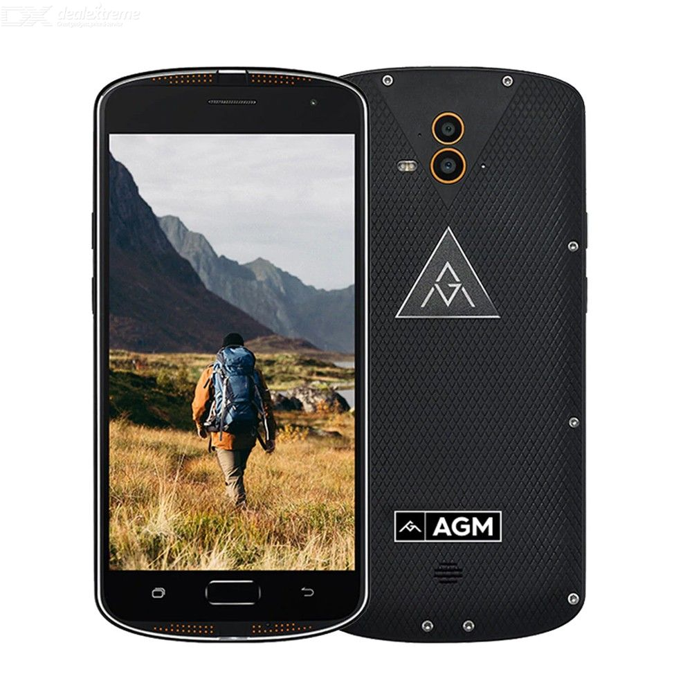 Original AGM X1 IP68 Waterproof Android Smartphone 5.5quotFHD 4GB RAM 64GB ROM 617 Octa Core Fingerprint 5400mAh OTG NFC