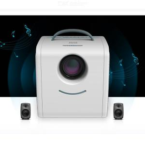 Q6 Projector HD 1080P Manual Correction LCD Short-Focus Portable Entertainment Movie Projector Home Theater 15w US Plug