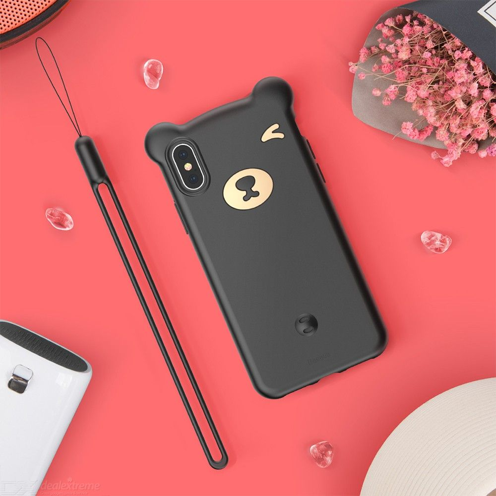 Baseus Cute Mobile Phone Case Bear Silicone Soft Fitted Cases For IPhone XR/XS/XS Max