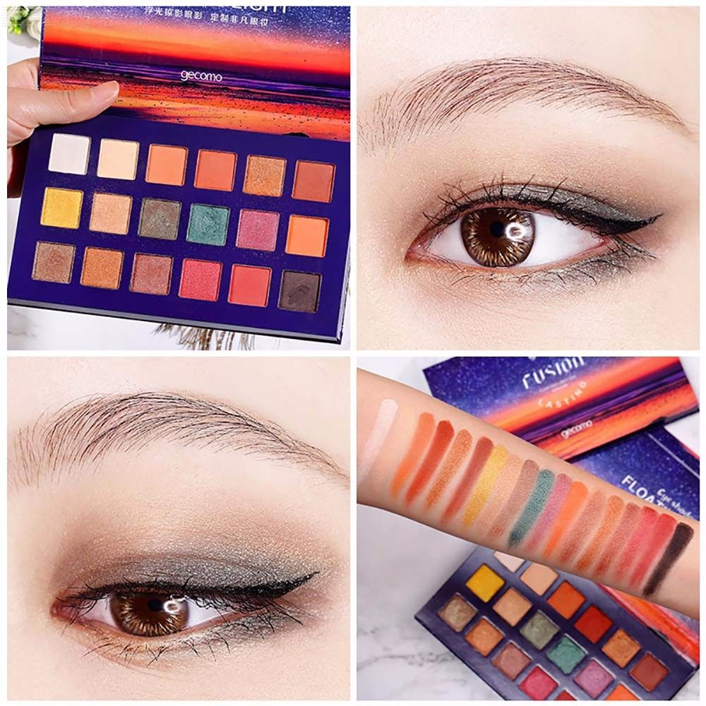 18 Colors Blue Star Sky Palette Shimmer Smoky Cosmetics Matte Glitter Eye Shadow Makeup
