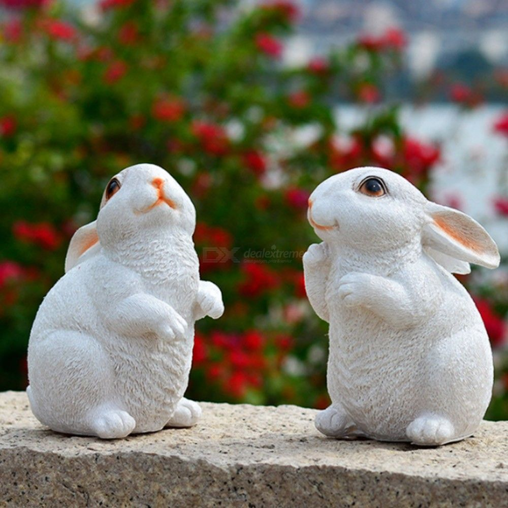 2PCS-Resin-Rabbit-Micro-Landscape-Ornament-Fairy-Tale-Garden-DIY-Miniature-Decoration-Animal-Toy-Gift