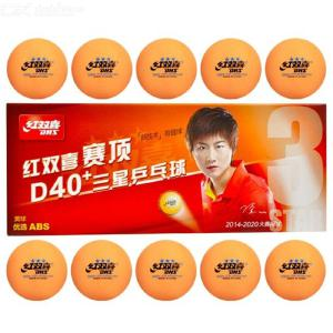 10PCS DHS 3-Star Table Tennis Balls New Material 3-Star Seamed ABS Plastic Poly Ping Pong Balls