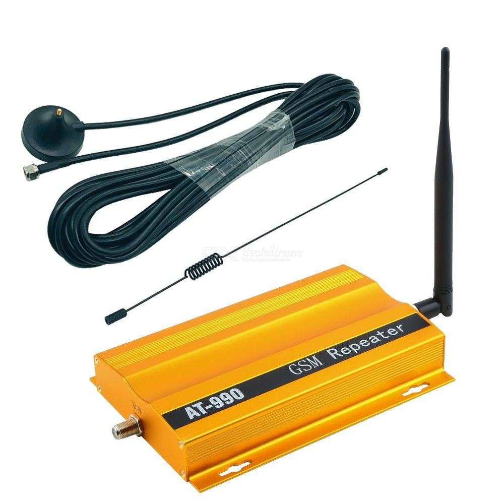 AT990 GSM 900MHz Cell Phone Signal Booster, Indoor Cell Signal Repeater  Amplifier Kit