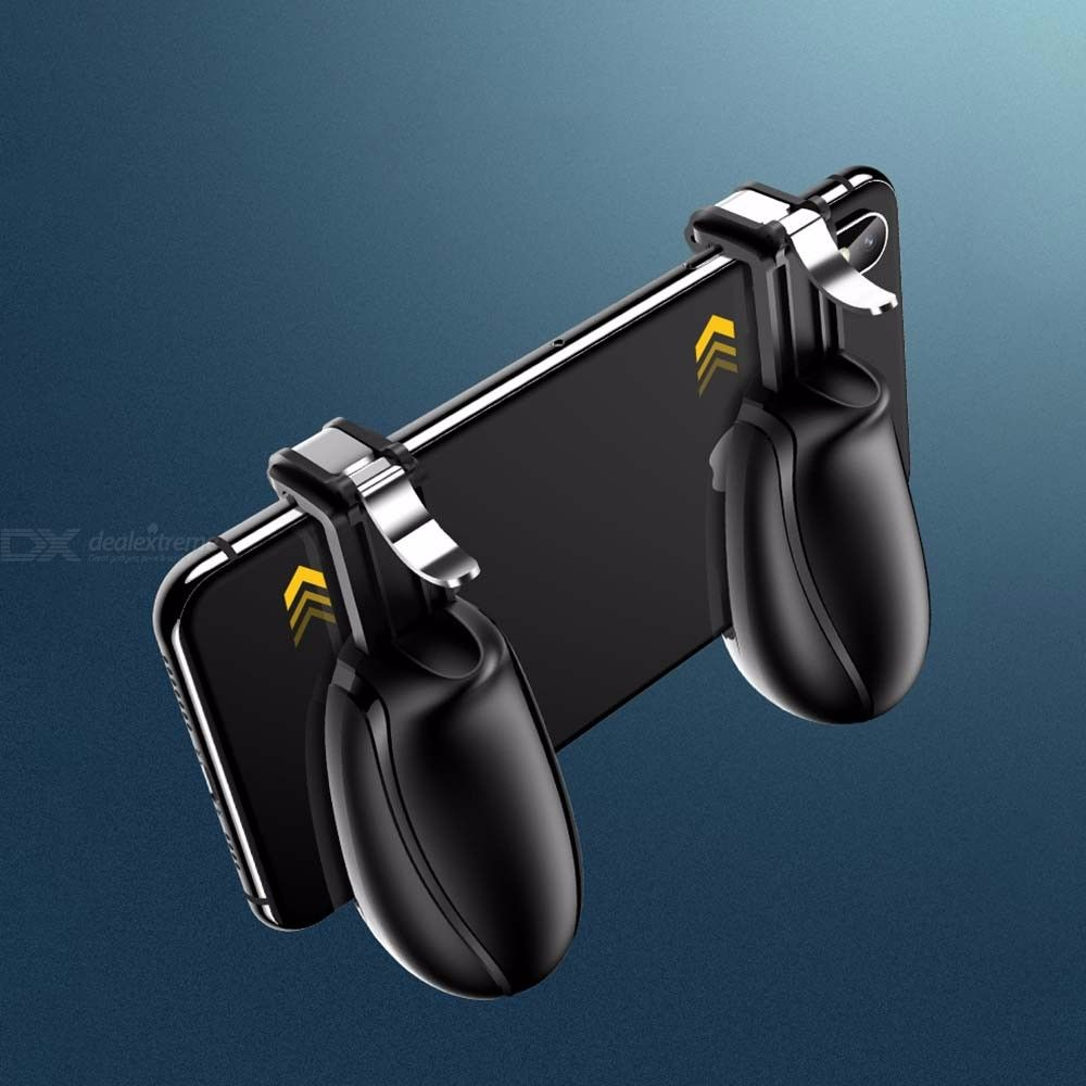 USAMS Clip-on Two-piece Mobile Phone Controller, Adjustable Phone Joystick For 6.5 Inch Smartphone