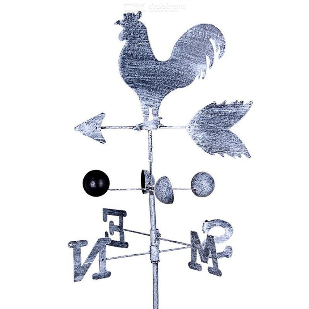 120cm-Retro-Cock-Weather-Vane-Metal-Iron-Wind-Speed-Rotation-Direction-Indicator-Windmill-Gardening-Decoration