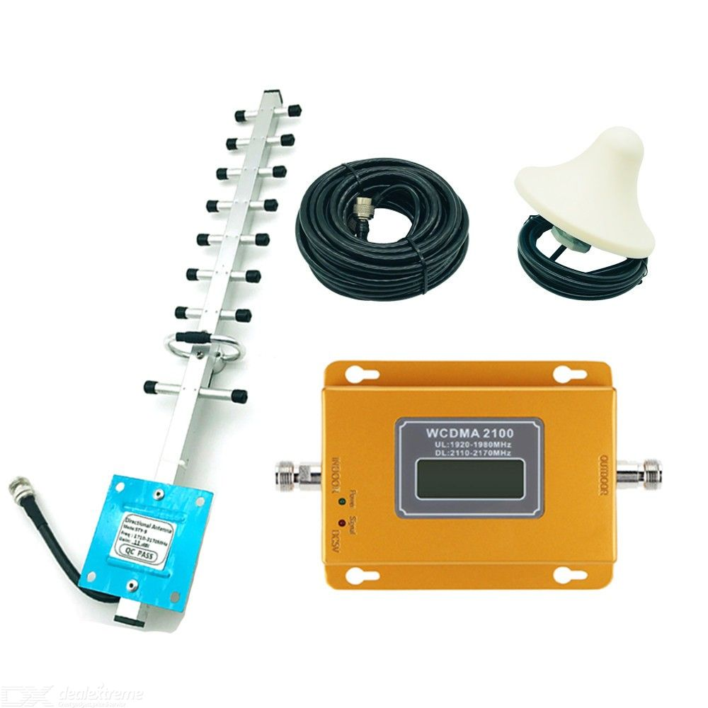 3G 2100MHz Mobile Phone Signal Booster, Home Cell Signal Booster Repeater Kit
