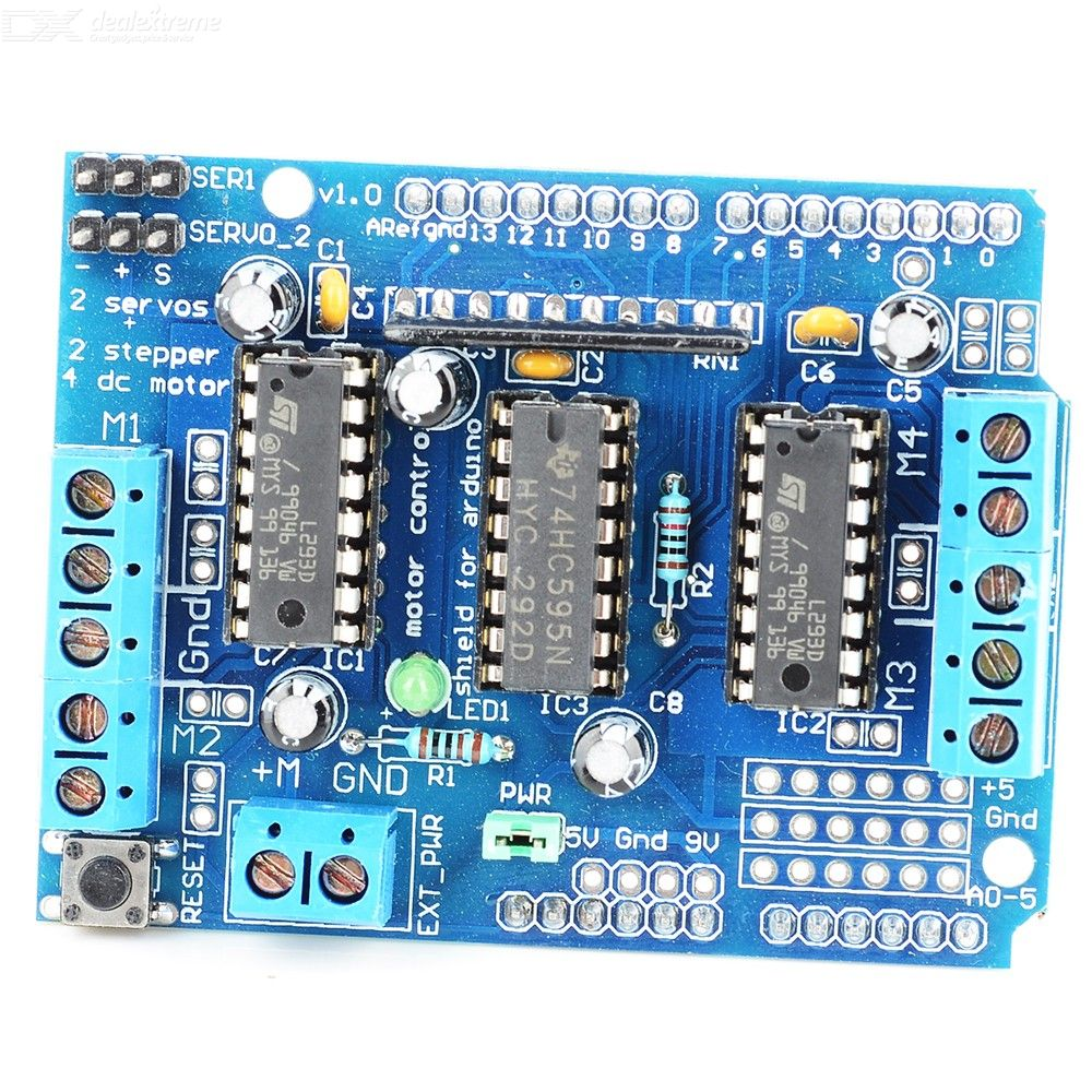 9.L293D Control Shield Motor Drive Expansion Board For Arduino Motor Shield