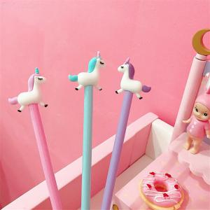 Girl Gel Pen Cute Cartoon Unicorn Silicon Signature Pens Student School Office Stationery