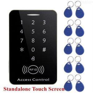 Standalone Access Control Touch Keypad System, Digital Keyboard Door Lock Controller, RFID Card Reader With 10Pcs Keys