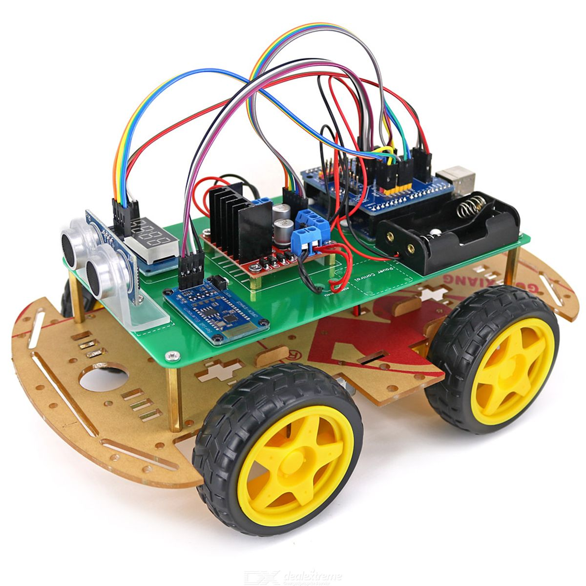 4WD Bluetooth Controlled Smart Robot Car Kit for Arduino
