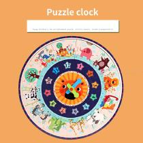 Educational-Wooden-Pegged-Puzzles-For-Toddler-Cartoon-Clock-Numbers-Learning-Jigsaw