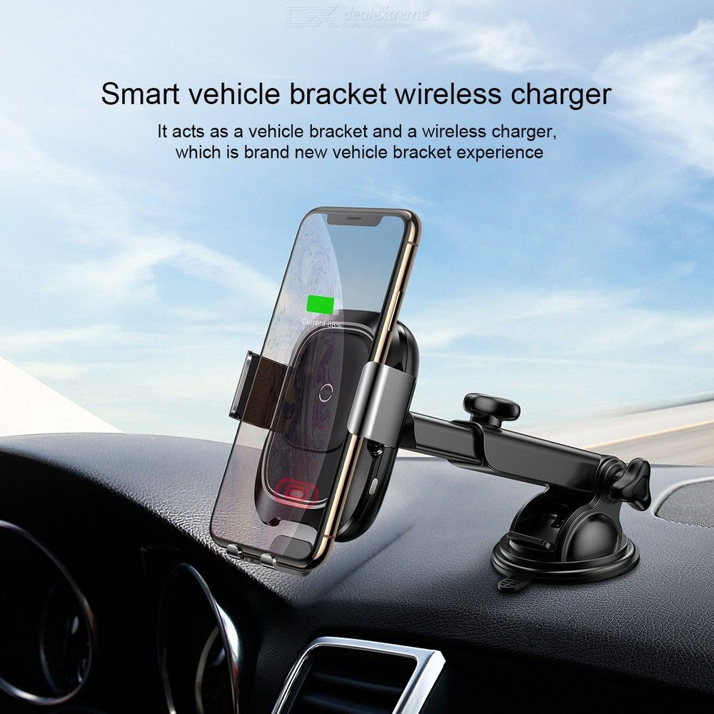 Baseus Wireless Car Charger Universal Phone Mount With Fast Charging Mode