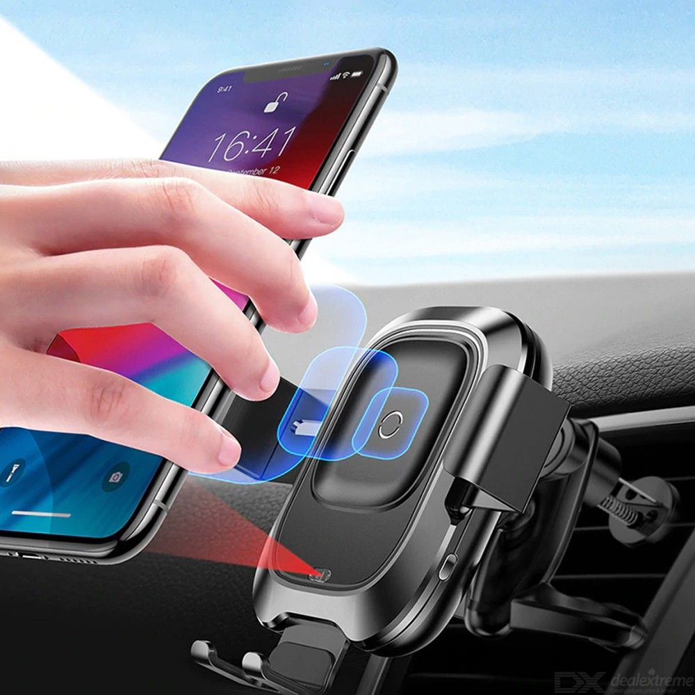 Baseus Intelligent Sensor Phone Holder Wireless Charger Car Air Vent Mount Holder For IPhone XR