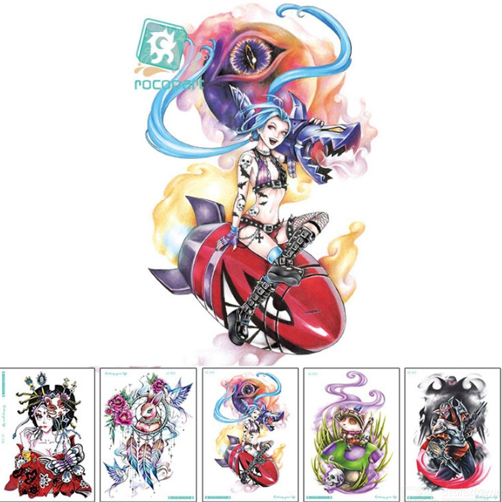 Temporary Tattoos Stickers League Of Legends Waterproof Arm Fake Body Art