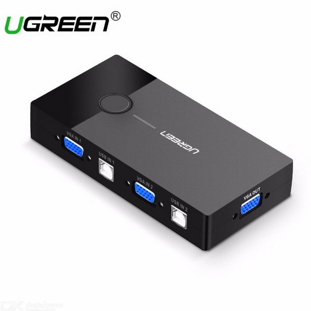 Ugreen-KVM-USB-Switch-VGA-Splitter-2-Port-USB-Sharing-For-Printer-Keyboard-Mouse-Monitor-VGA-To-USB-KVM-Switch