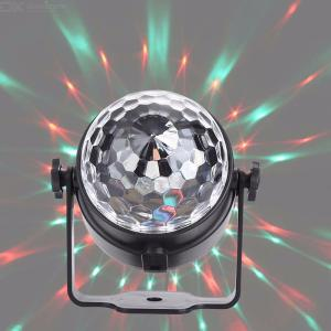 Stage Light Remote Control 3W Small Crystal Magic Ball LED Strobe Light Laser DJ Projection Lamp