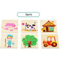 24PCS-Educational-Wooden-Pegged-Puzzles-For-Toddler-Cartoon-Farm-Learning-Jigsaw-Set