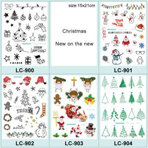 Temporary Tattoos Stickers Fashion Christmas Cute Festival Waterproof Body Art