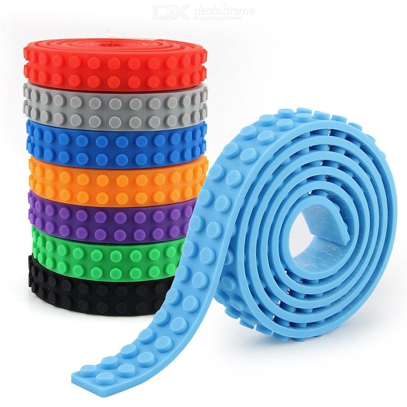 1.6 X 92cm Soft DIY Stacking Block Double-sided Silicone Roll Up Building Mat