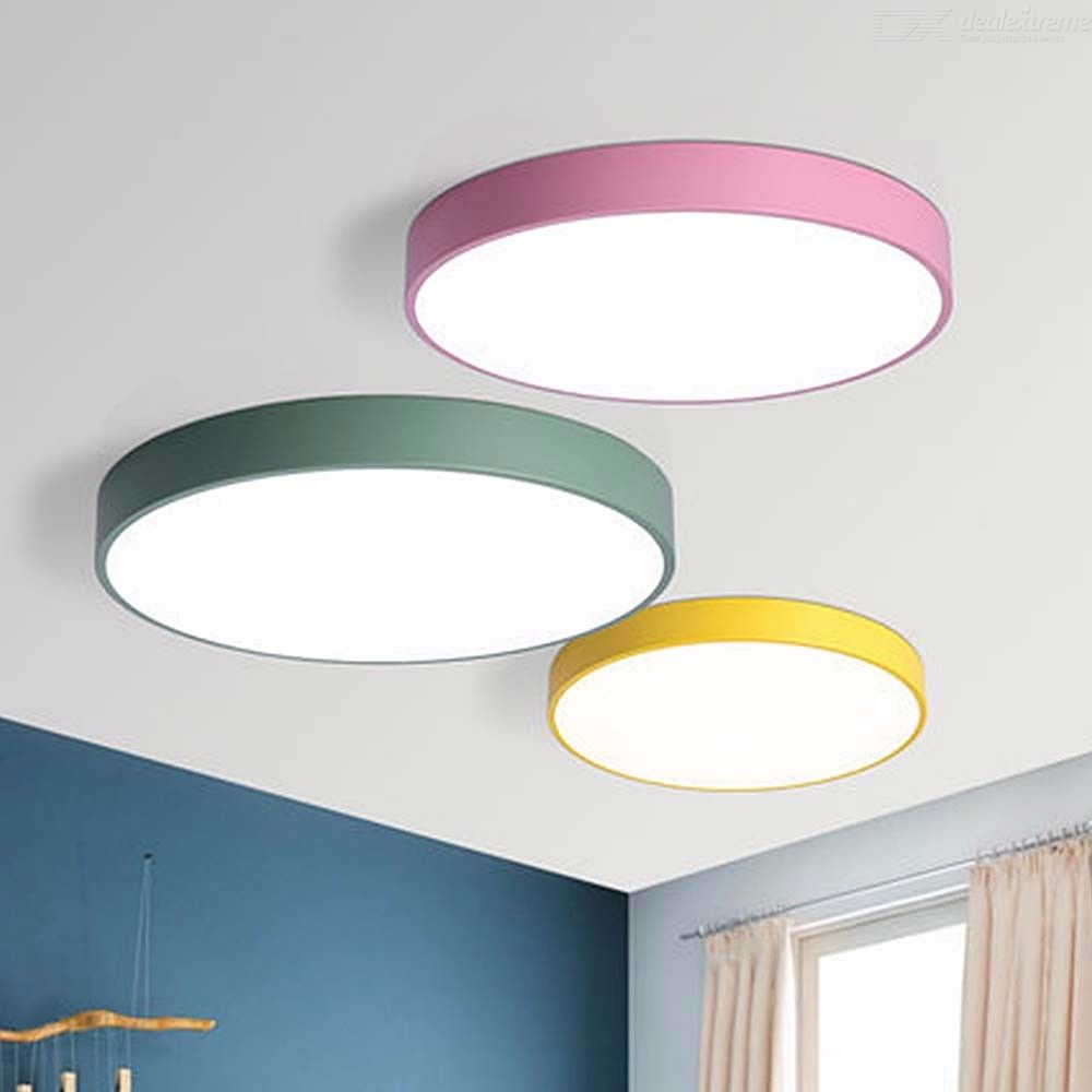 Surface Mounted Round Modern Macarons LED Ceiling Lamps 12W For Kids Living Room Home Lighting